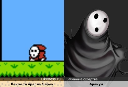 Аракун из BlazBlue похож на врага из Марио