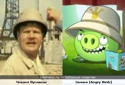 Михаил Пуговкин похож на свинью из игры Angry Birds