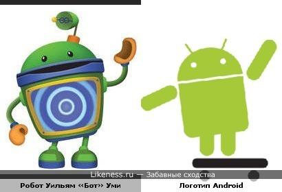 Робот Уильям «Бот» Уми похож на логотип Android