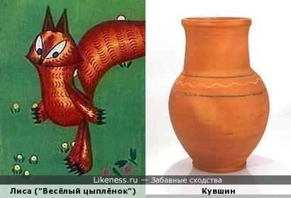 """Лиса из мультфильма """"Весёлый цыплёнок"""