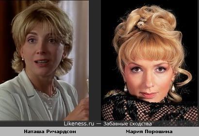 Наташа Ричардсон в роли Элизабет Джеймс напоминает Марию Порошину