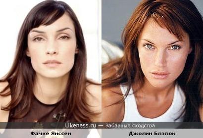 Джолин Блэлок на этом фото похожа на Фамке Янссен