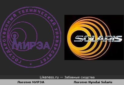 Логотип МИРЭА похож на логотип Hyndai Solaris