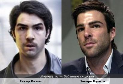 Тахар Рахим и Закари Куинто похожи