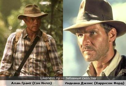 """Главные герои """"Парк Юрского периода"""" и """"Индиана Джонс"""" похожи"""