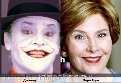 Улыбка Джокера похожа на улыбку экс-первой леди США