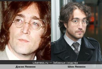 Шон Леннон очень похож на своего отца Джона