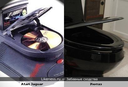 Приставка Atari Jaguar похожа на унитаз
