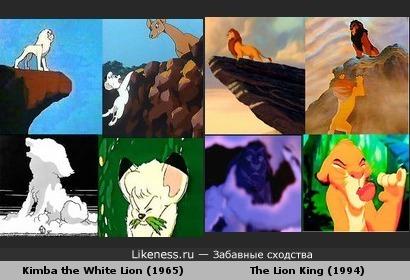 Кадры из разных мультфильмов похожи
