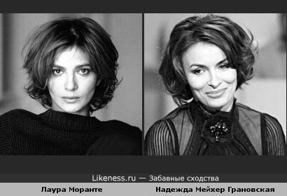Лаура Моранте похожа на Надежду Грановскую