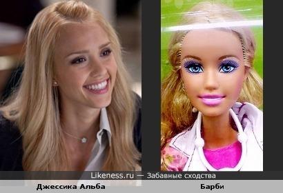 Эта Барби делана с Джессики Альбы