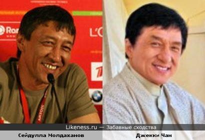 Актер С. Молдаханов (На Муромской дорожке, Адмирал) и суперактер Дж. Чан похожи