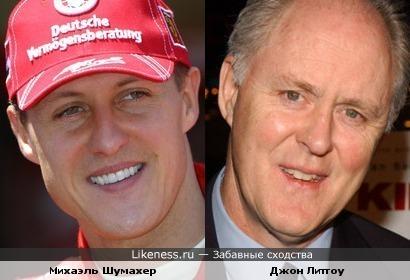 Несмотря на разницу в возрасте Шумахер и Литгоу похожи
