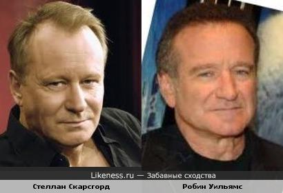Стеллан Скарсгорд (Билл Прихлоп в ПКМ) и Робин Уильямс