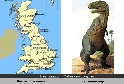 Великобритания без Ирландии похожа на тираннозавра