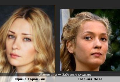 Молодые актрисы Ирина Таранник и Евгения Лоза