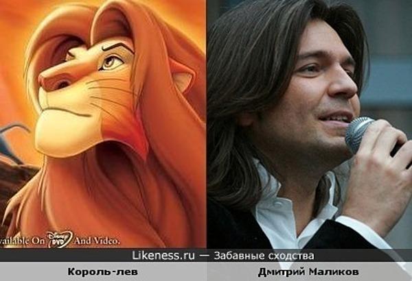Король-лев и Дмитрий Маликов похожи