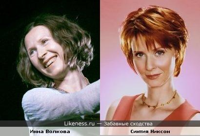 """Инна Волкова (""""Колибри"""") и Синтия Никсон"""