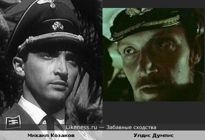 """Михаил Козаков и Улдис Думпис (""""Секретный фарватер"""")"""