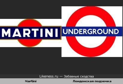 "Логотип ""Мартини"" отдалённо похож на логотип Лондонского метрополитена"