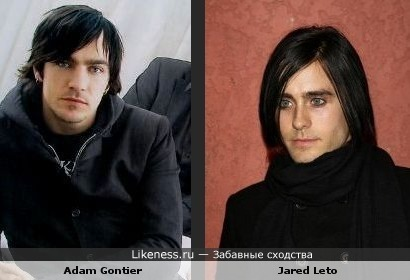 Adam Gontier похож на Jareda Leto