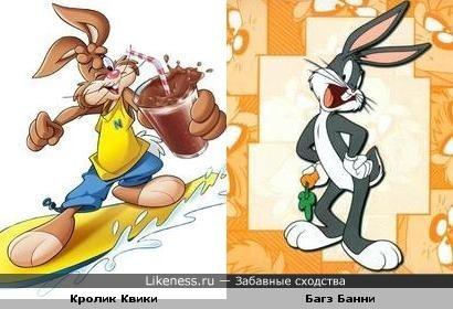 Кролик Квики похож на кролика Багз Банни
