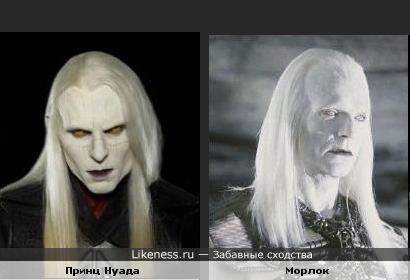 Принц Нуада (Хеллбой 2) похож на Морлока (Машина времени)