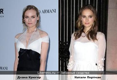 Диана Крюгер похожа на Натали Портман