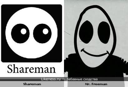 Ярлык Shareman напоминает Mr. Freeman