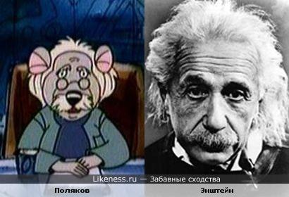 Мышь Поляков из м/ф Ловушка для кошек, похож на самого Энштейна
