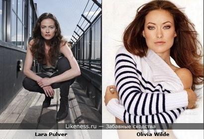 Лара Пульвер издалека похожа на Оливию Уайлд