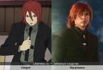 Персонаж Спирит - коса смерти из аниме Soul Eater похож на Илью Лагутенко.