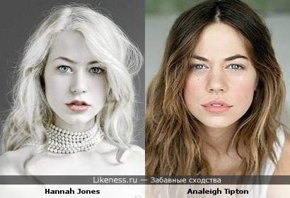 Две модели с лица похожи