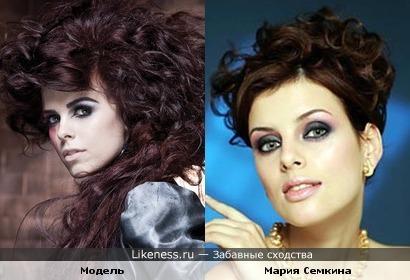 Модель похожа на актрису Марию Семкину