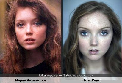 Мария Аниканова в юности похожа на модель Лили Коул
