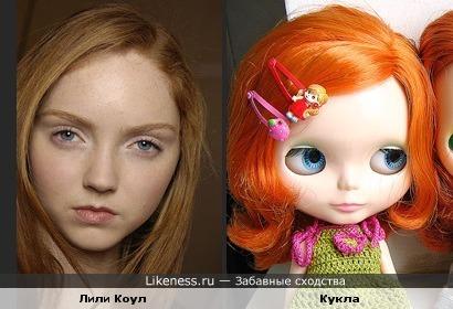 Лили Коул похожа на куклу