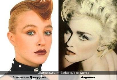 Элеонора Джорджи похожа на Мадонну