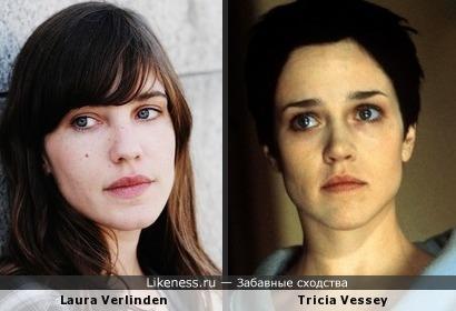 Две актрисы похожи: Лора Верлинден и Триша Весси