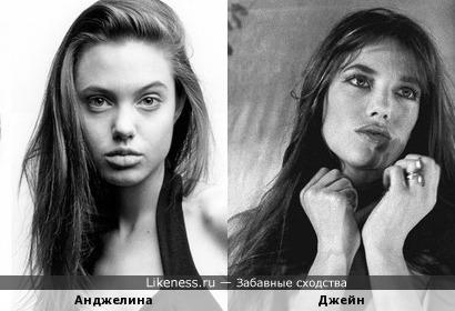 Анджелина Джоли и Джейн Биркин похожи