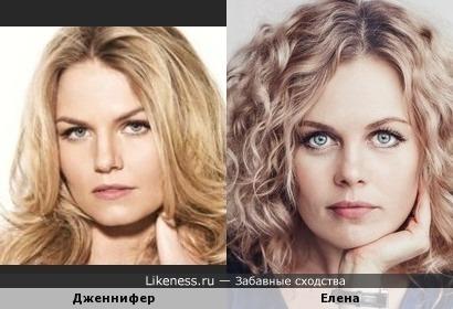 Дженнифер Моррисон и Елена Суркова похожи