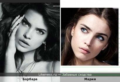 Балерина Мария Виноградова и модель Барбара Палвин похожи