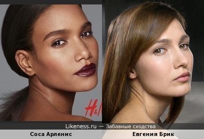 Модель Соса Арленис похожа на Евгению Брик
