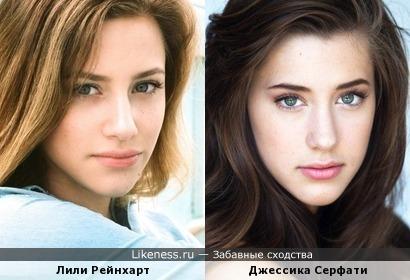 Модель Джессика (Топ-модель по-американски) похожа на актрису Лили Рейнхарт