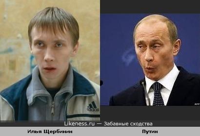 Илья Щербинин похож на Путина