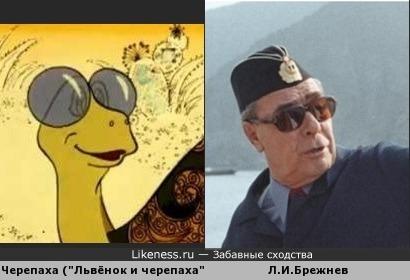 Брежнев похож на Черепаху