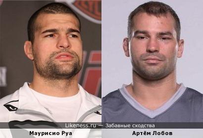 Бойцы UFC Маурисио Руа и Артём Лобов похожи