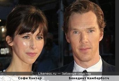 На этой совместной фотографии Камбербэтч и его супруга немного похожи