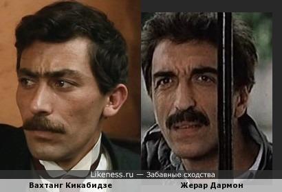 Молодой Вахтанг Кикабидзе похож на Жерара Дармона