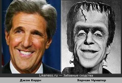Экс-кандидат в президенты США Джон Керри и Херман Мунштер