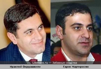 Экс-министр обороны Грузии похож на Мартиросяна